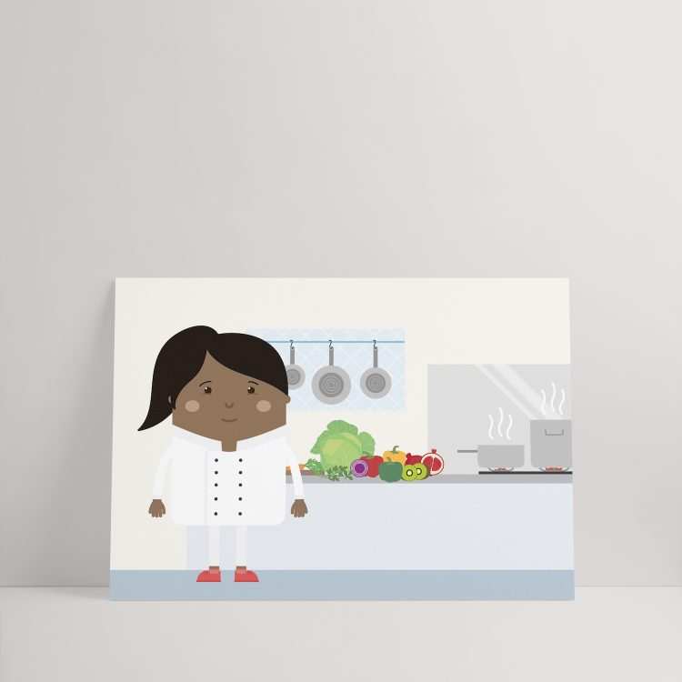 Woman of color chef kids poster Skwoodle