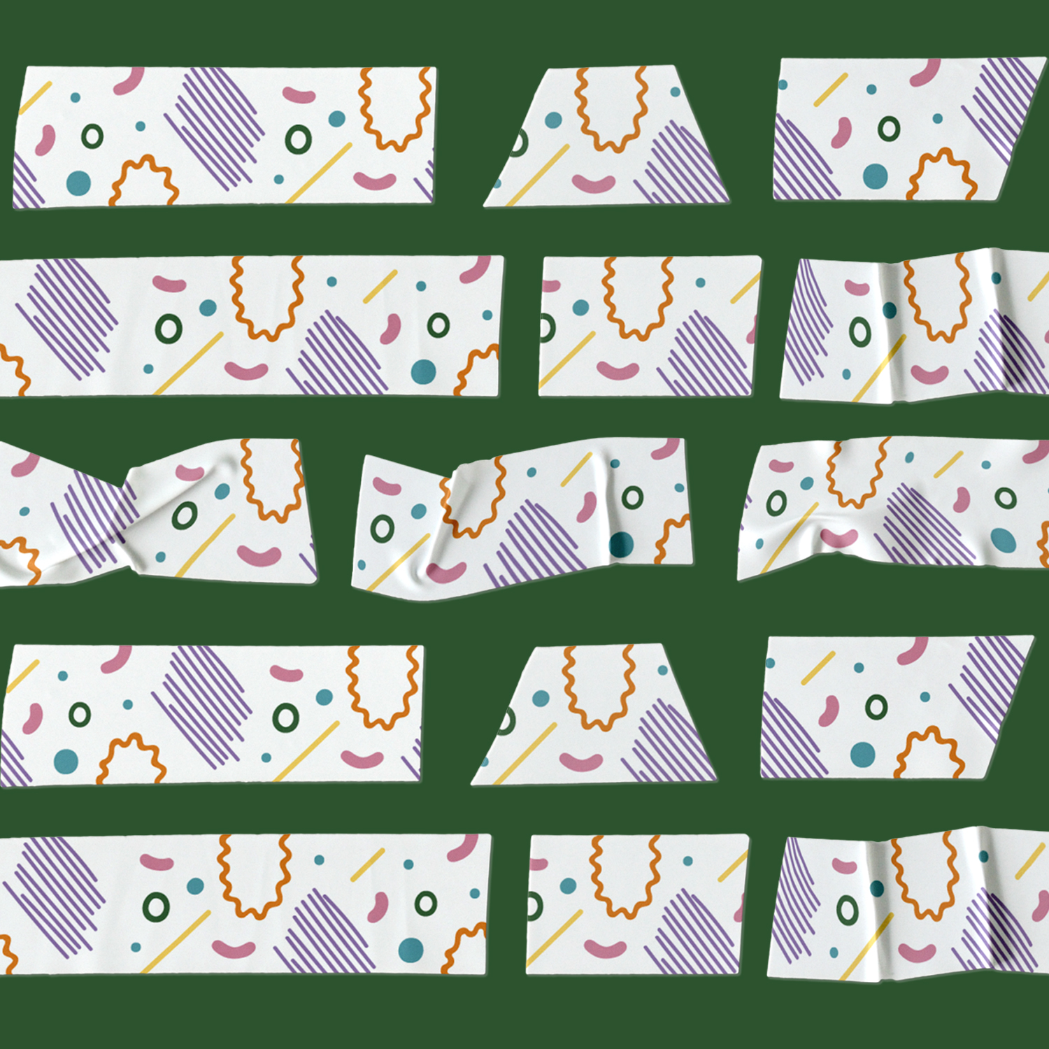 Custom illustrated sustainable washi tape compostable Skwoodle